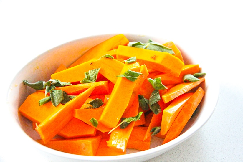 Sweet Potato, Pumpkin & Sage is the perfect side for red meat or a roast chicken. Image © Skye Gilkeson