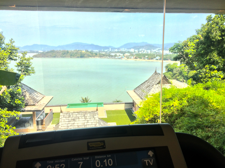 gym at the westin siray bay