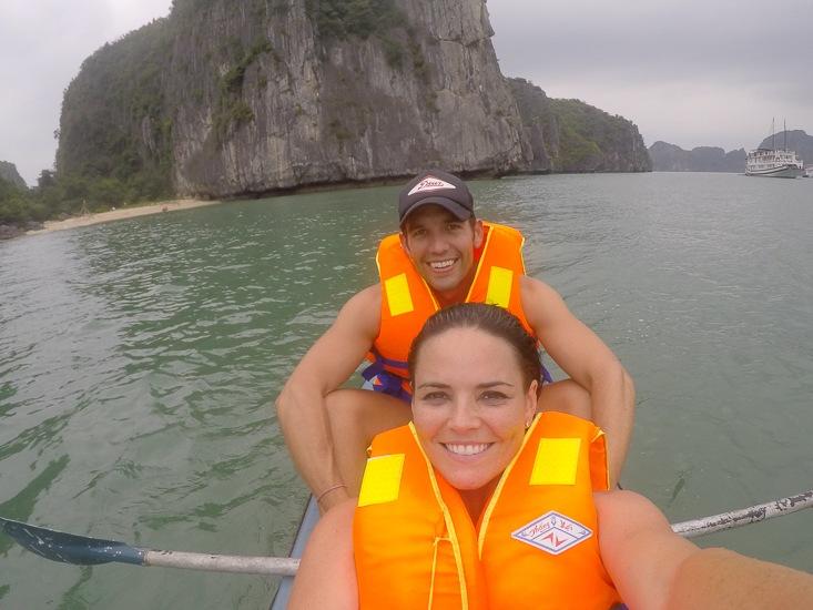 Kayaking in Ho Ba Ham, Halong Bay