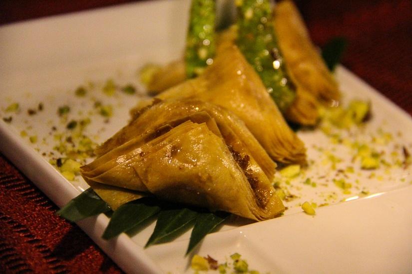 Traditional Middle Eastern desserts at Al Khaimah, Centara Ras Fushi Resort & Spa, Maldives.