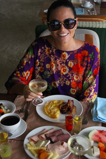 Champagne breakfast with toes in the sand at Centara Grand Island Resort & Spa, Maldives