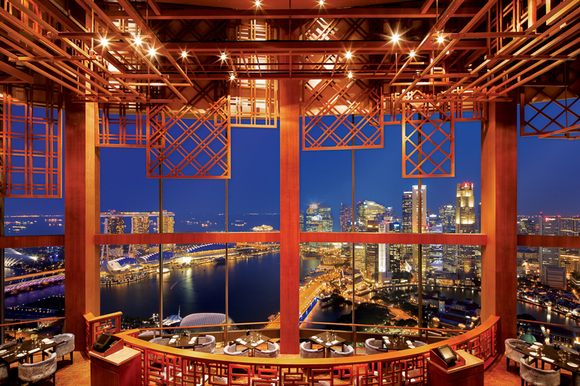 Best restaurants with views in Singapore - Equinox Restaurant