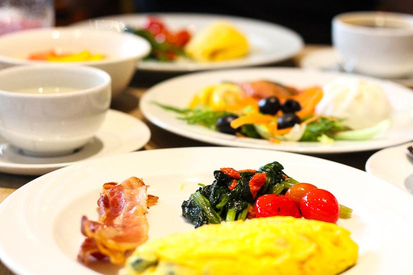 Breakfast menu at Fairmont Hotel, Singapore.