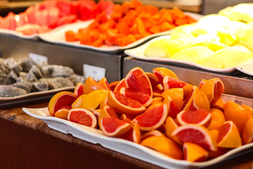 Vegan and vegetarian options at Prego restaurant, Fairmont Hotel, Singapore.