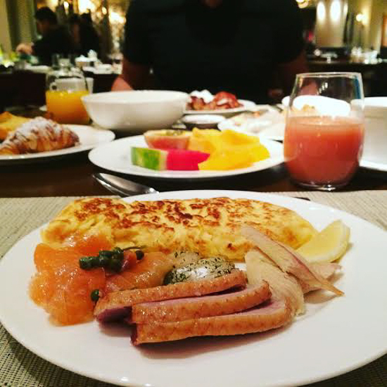 Best hotel brunch in Singapore at Four Seasons.
