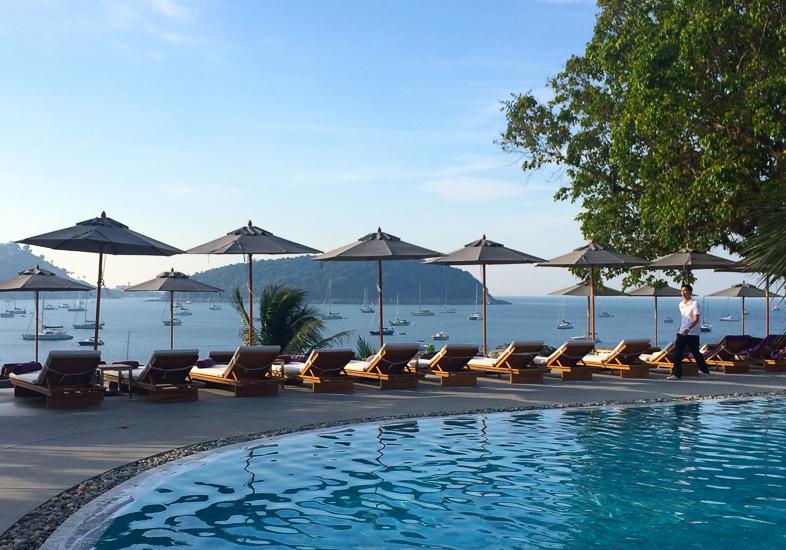 Best hotel pools around the world. The Nai Harn Phuket Thailand.