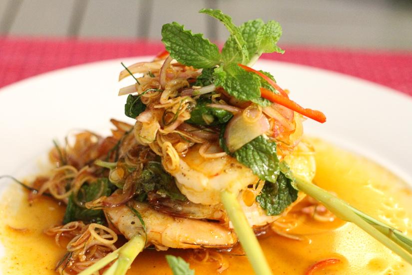 Fine dining fare at the Cosmo Restaurant at The Nai Harn Phuket Thailand