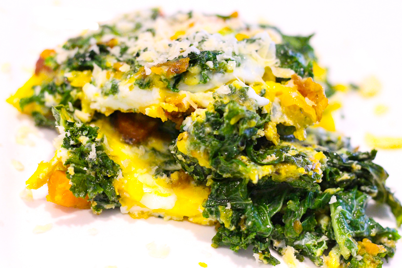 Put this frittata together in 5 minutes and in 15 minutes it will be ready to serve. Image © Skye Gilkeson