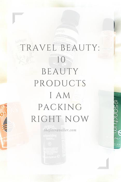 Travel Beauty: 10 Products I am Packing Right Now - Natural Beauty Travel Essentials. Packing a travel beauty kit can take practice. Pick up these 10 natural beauty products that I am travelling with right now and save yourself lots of time.