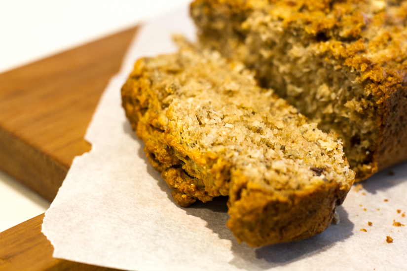 Gluten-free Coconut & Banana Bread is a great afternoon treat and perfect for the children's lunch boxes too. Image © Skye Gilkeson