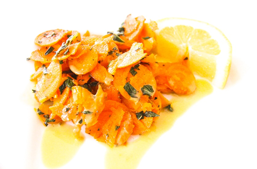 Quick, delicious, nutritious: Crunch Carrot Salad with Creamy Tahini Dressing. Image © Skye Gilkeson