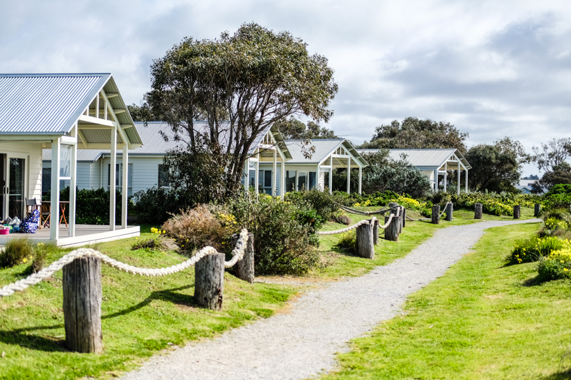 The Barwon Heads Caravan Park Beach Houses offer self-contained accommodation just off the sand. Image © Sophia Lazarides