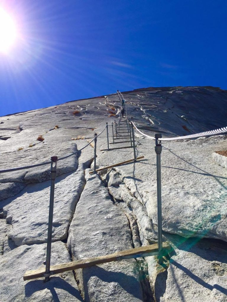 The legendary Half Dome cables can defeat even the most experienced climbers. Image © Gabrielle Boyle