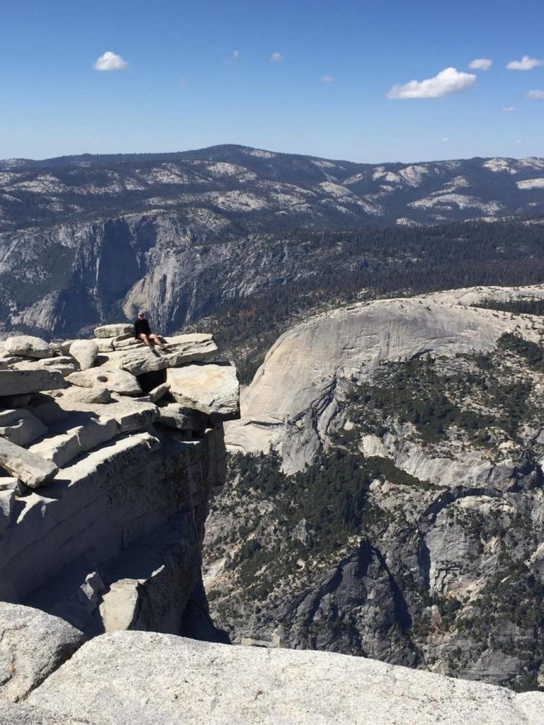 Gabrielle Boyle taking in the scenery over Yosemite National Park. Image © Gabrielle Boyle