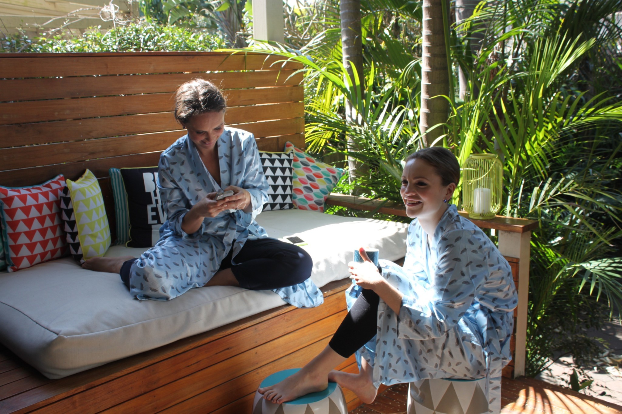 Bondi Yoga House are invited to use the spaces as they wish. The outdoor day bed in the garden is a favourite spot. Image © Bondi Yoga House