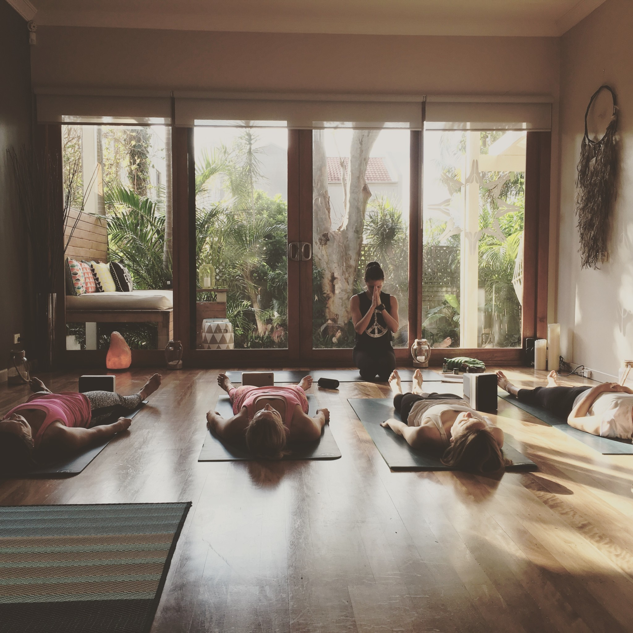 The Yoga Space is a place for connection and relaxation through yoga, meditation and mindfulness teachings. Image © Bondi Yoga House