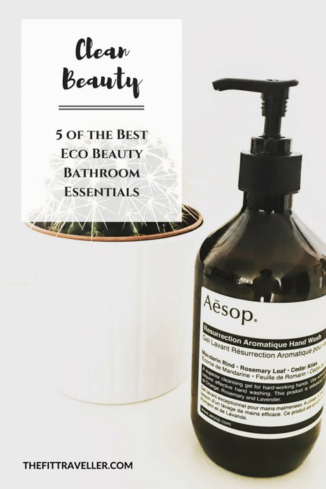 Clean Beauty. We reveal five of the best eco beauty bathroom essentials; natural, toxin-tree products we love, from hand wash to toothpaste.