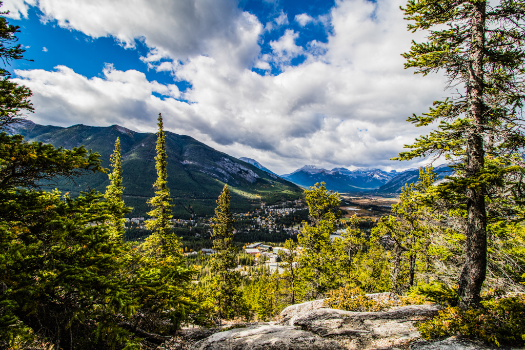 Banff from above: Banff is just a 15 minute drive from Stoneridge Mountain Resort. Image © Skye Gilkeson