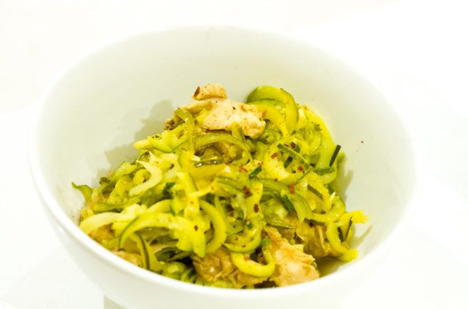 Simple Asian Style Chicken Chilli Zoodles - Paleo, Gluten-Free, Grain-Free, Dairy-fee