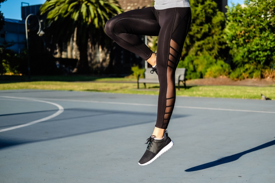 Fitness Fashion Trends: Best activewear buys with mesh and cut-out detailing. Image © Sophia Lazarides
