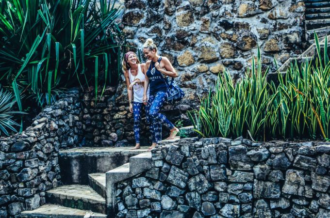 Mary Tilson and Lindsey Cavanaugh sporting the Sumba Warrior Collection on retreat in Nicaragua. Image © Vibe Tribe Creative