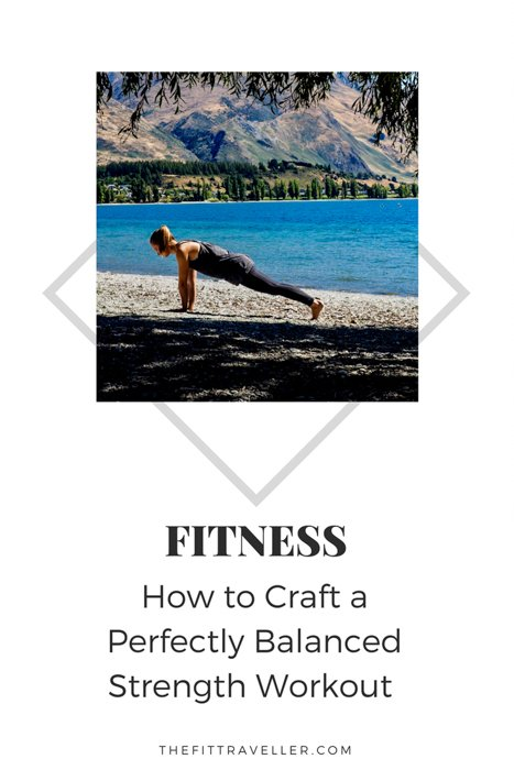 How to Craft a Perfectly Balanced Strength Workout - Including a Free Travel Workout. Want the simple secret formula for how to design a perfectly balanced strength workout? The best strength workout without equipment, perfect for travel.