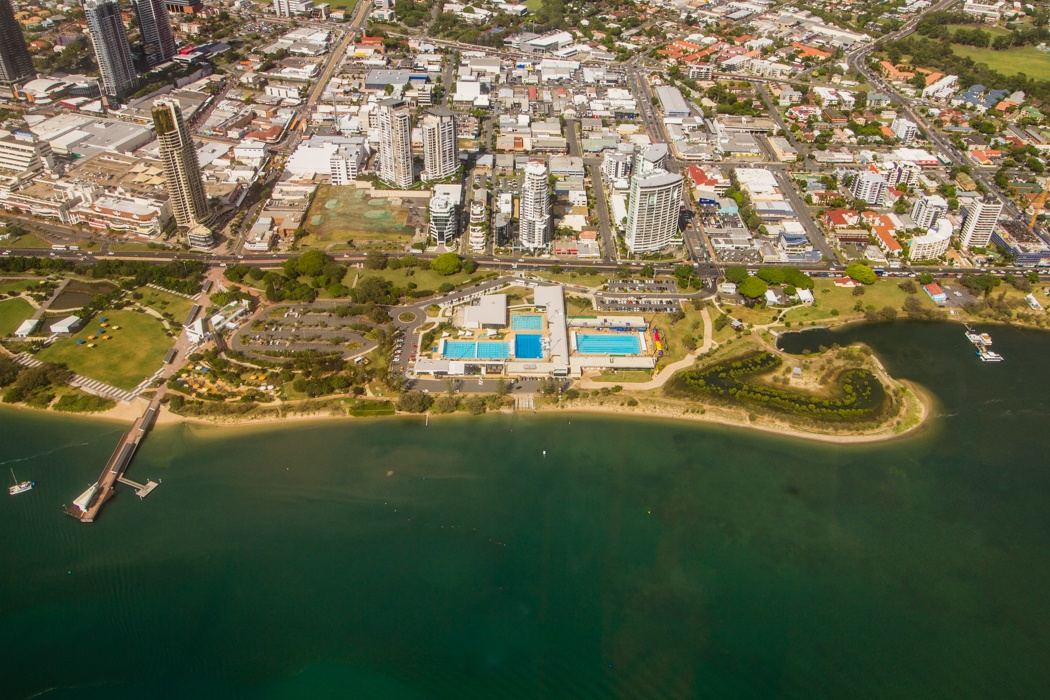 Venues for the 2018 Commonwealth Games. Gold Coast Aquatic Centre, Gold Coast.