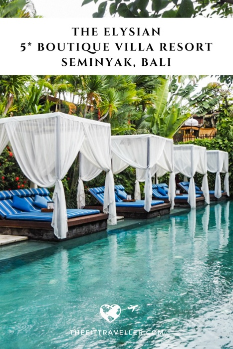 The Elysian boutique villa hotel in Seminyak Bali is a beautiful, private 5 star villa resort in the heart of Seminyak, perfect for couples and honeymooners.