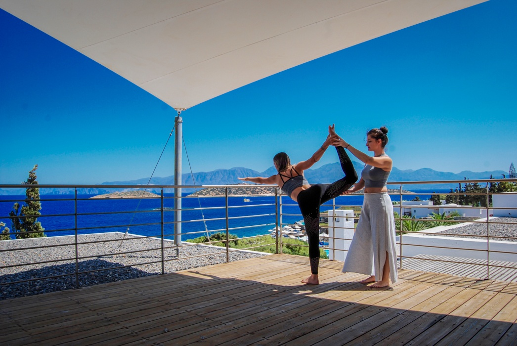 yoga at St Nicolas Bay