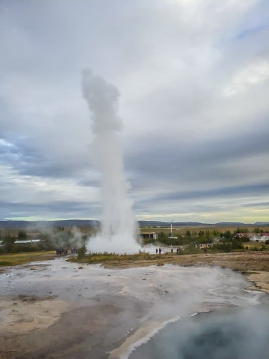 where to see a geyser in iceland