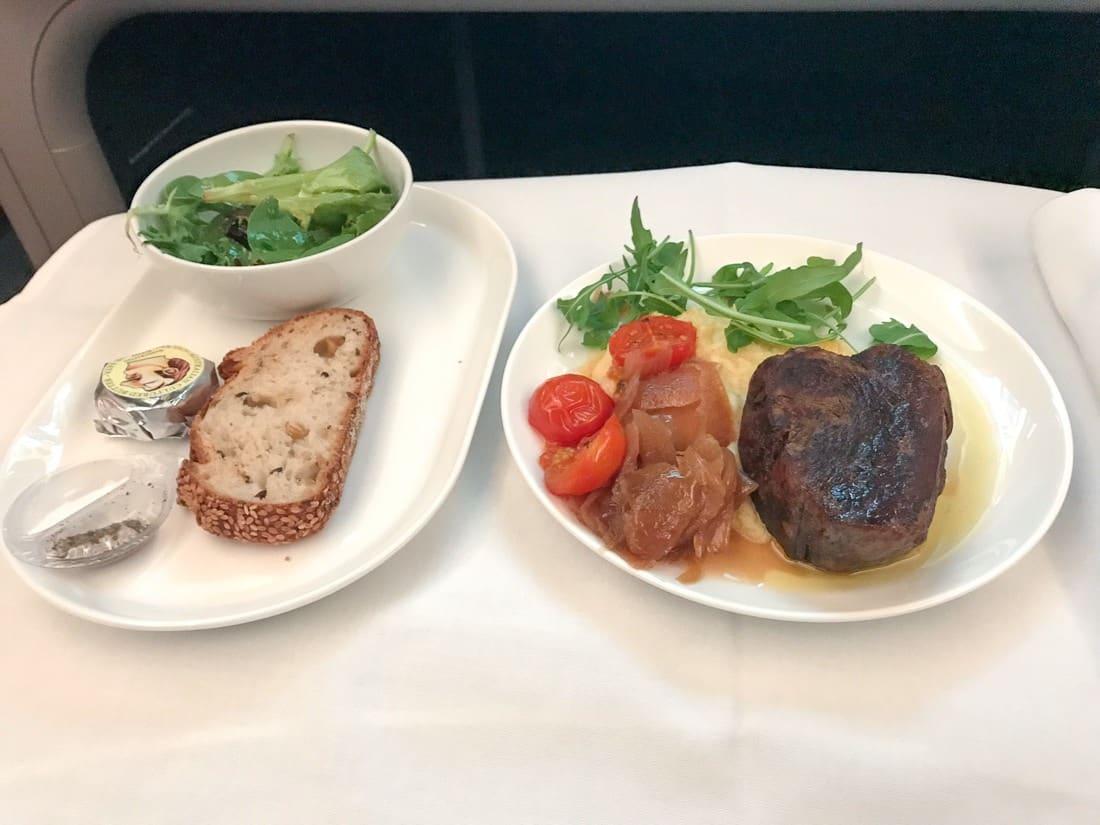 qantas dreamliner business class menu