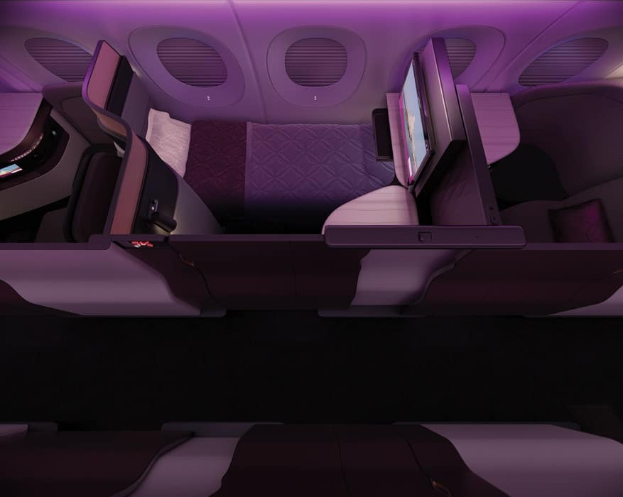 qatar business class seats