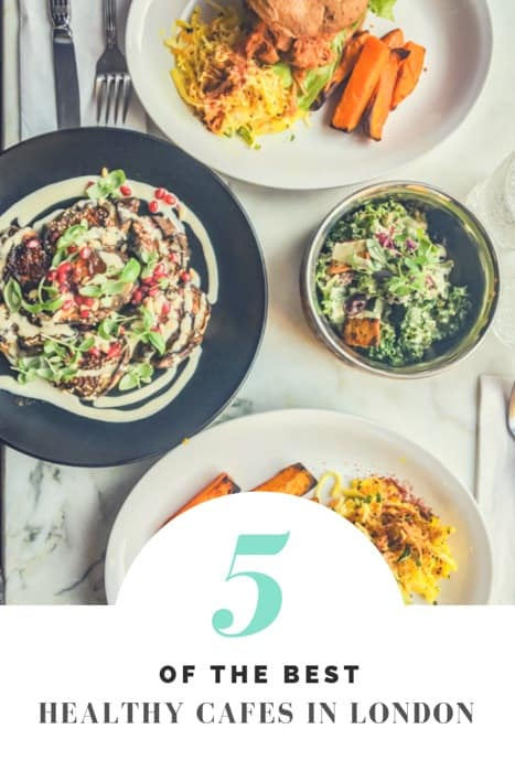 Healthy London restaurants you must try. These are 5 of the best healthy cafes London has to offer for vegans, vegetarians and health-conscious people. With everything from vegan pizza to great London coffee and matcha lattes. This foodie London travel guide makes it easy to stay healthy in London. #london #travel #wellness #wellnesswednesday #wellbeing