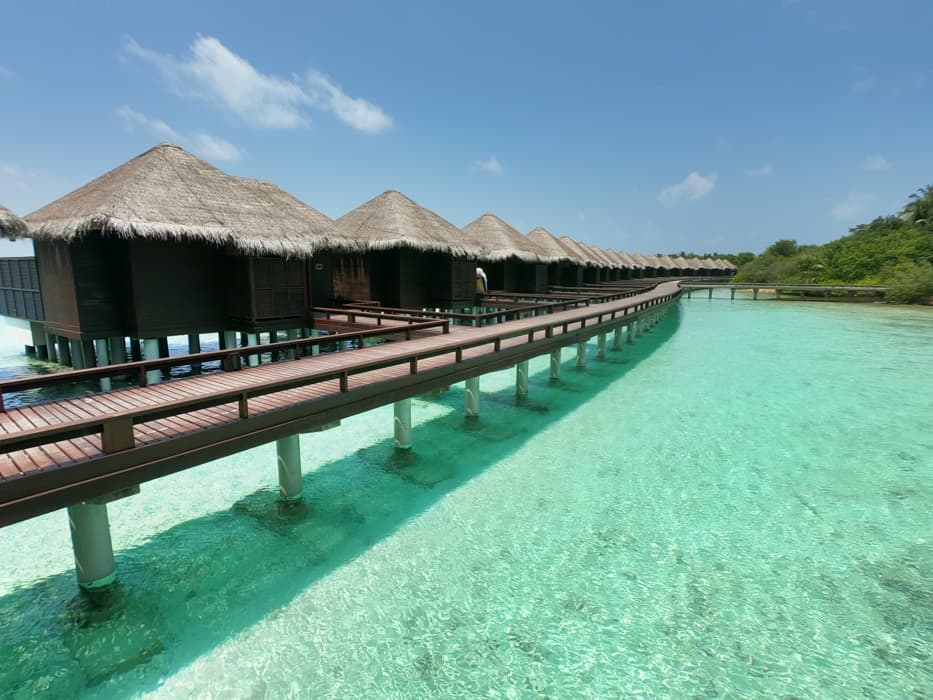 sheraton maldives water bungalow