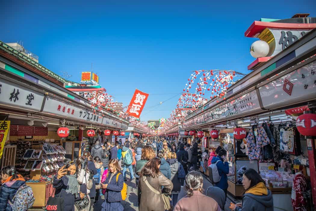 nakamise shopping street tokyo