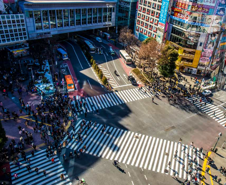shibuya crossing photo spots