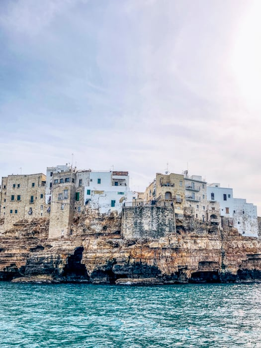 polignano a mare from the water