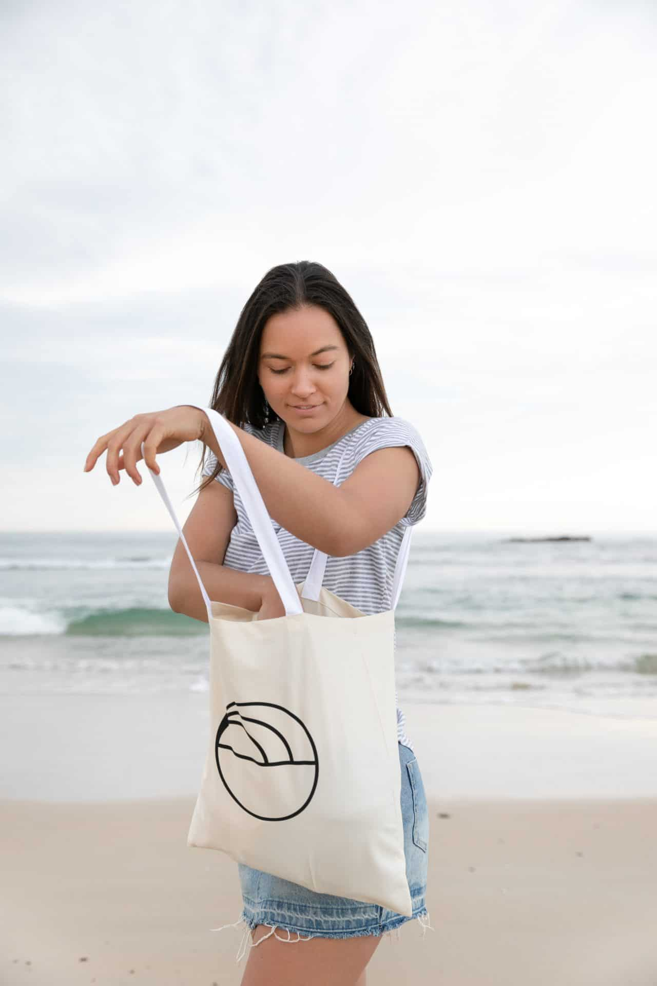organic cotton eco shopping bag