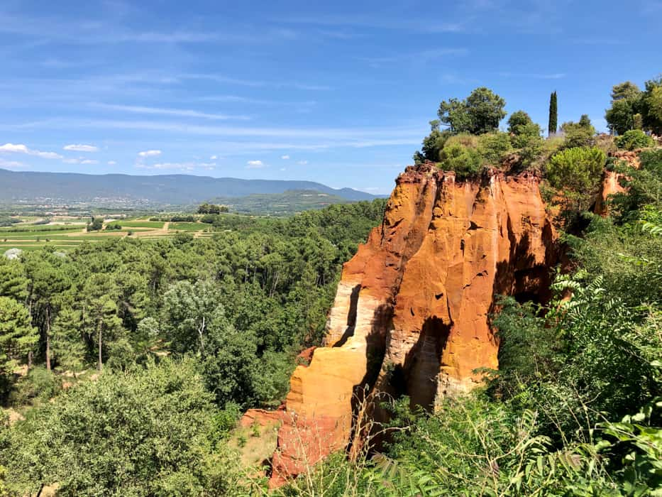 cliffs in Roussillon